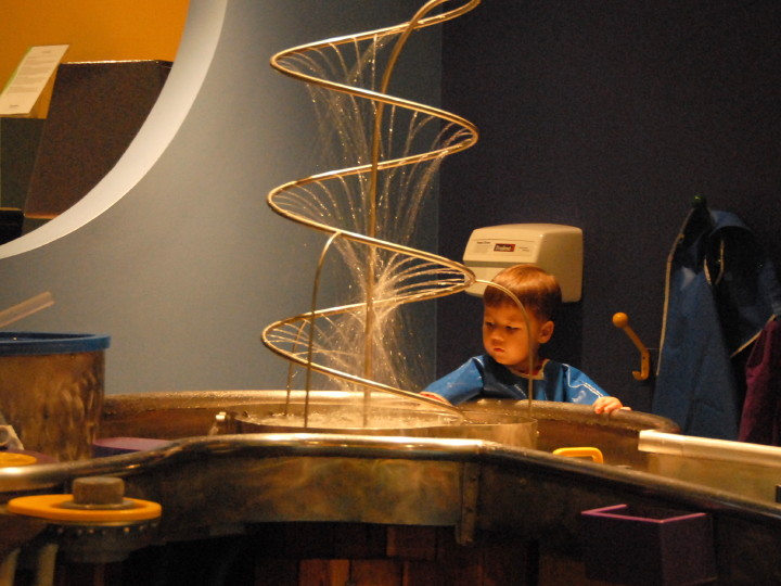 water play at the MD Science center