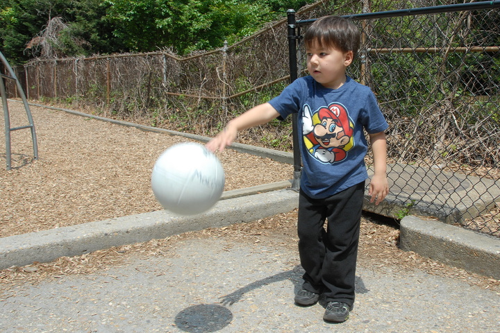 ball at Macomb street playground