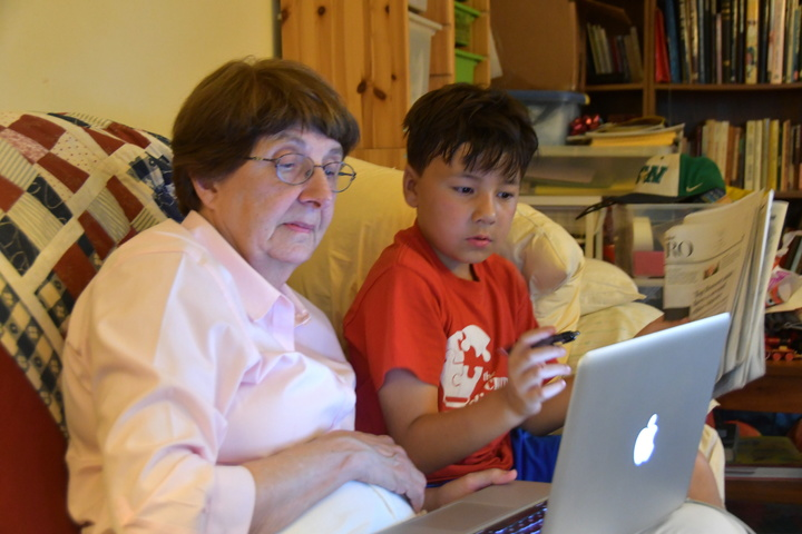 online research with grandma